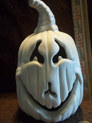 Halloween Jack O Lantern Pumpkin Ceramic Bisque U-Paint Ready To Paint Pumpkins