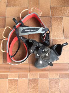 Climbing Shoes and Harness