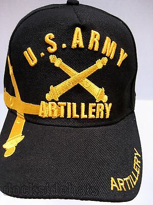 U.S.ARMY ARTILLERY VETERAN Cap/Hat New Black Military Free Shipping