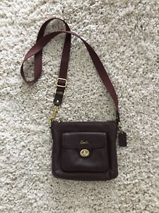 Ppu Friday Night Authentic Leather Coach Cross Body Purse