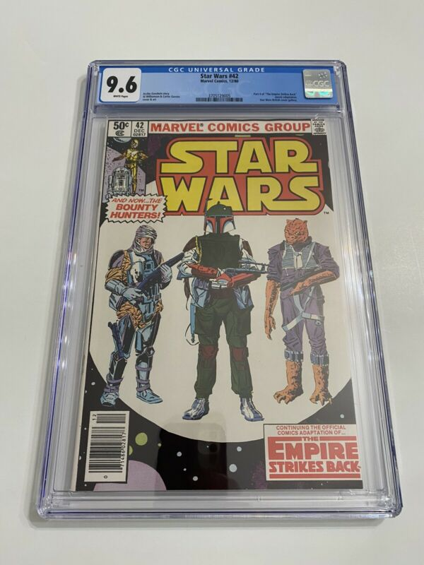 Star Wars #42 / CGC 9.6 White Newsstand / First Boba Fett!
