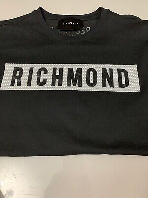 RRP £125 JOHN RICHMOND T-Shirt Small Front Logo BNWT