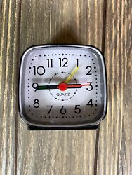 Quartz Small Mini Alarm Clock Black SPC873