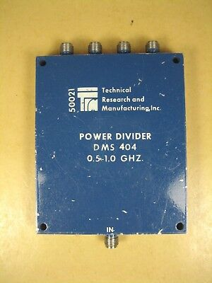 Trm Power Divider Dms-404 0.5-1.0 Ghz