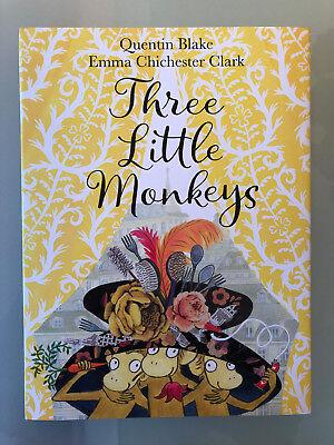 Quentin Blake SIGNED Three Little Monkeys UK 1/1 HB ()