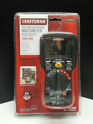 Craftsman True Rms Autoranging Multimeter 34-82023 7 Functions Lcd Screen