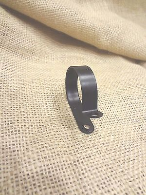 """Black Nylon 1-1/4"""" Nylon Cable / Loom Clamps ~ Made in USA ~ Pack of 25"""