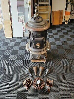 antique cast iron pot belly stove