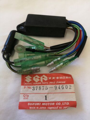 GENUINE Suzuki low oil warning unit 1985-1987 55-65 hp 37875-94602