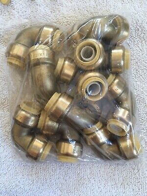 Plumbing Lot Of 10 Pieces 12 Sharkbite Style Push Fit 90 Elbow