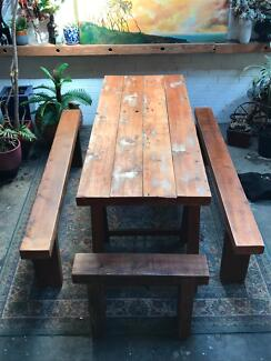Rustic wooden dining table perfect for big dinners