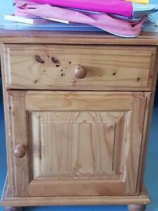 Wooden bedside table Palmerston Gungahlin Area Preview