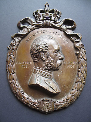Bronze Portrait Relief Christian IX König von Dänemark 1863-1906