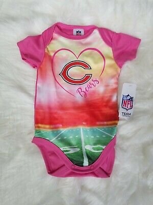 NFL Chicago Bears Baby pink bodysuit football 0-3 months one piece outfit girls