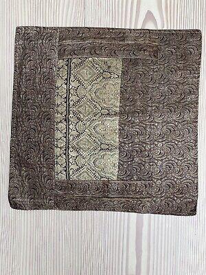 Antique Sari Border Cushion Cover 18in