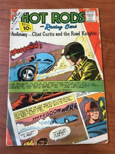 Hot Rods and Racing Cars #52 Charlton Comics 1961 GD