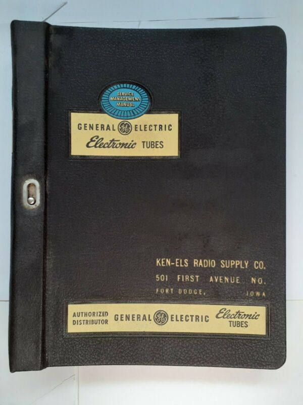 Service Management Manual General Electric Tubes 1952 Book