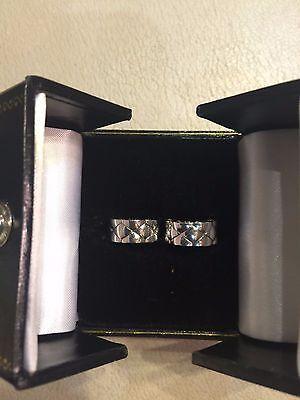 Autentic Chanel Matelasse Huggy Earrings in 18k White Gold