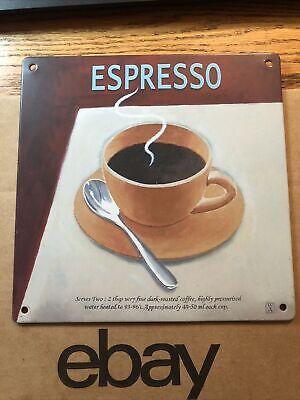 "TIN SIGN ""Espresso"" Cafe Kitchen Retro Vintage Art Poster In USA !"