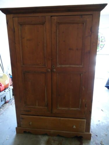 Primitive Vintage Antique Armoire Rustic