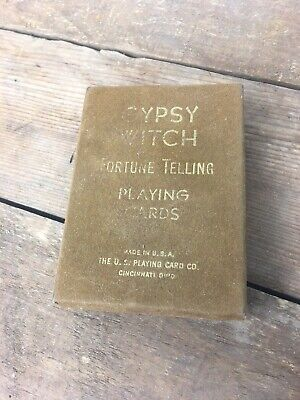 Gypsy Witch Fortune Telling Playing Cards Complete Deck Cincinnati Vintage Gypsy Witch Deck