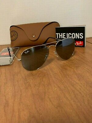 Ray-Ban Aviator Sunglasses RB3025 55mm Silver Frame Silver Mirror (Ray Ban Aviator Silver Frame)