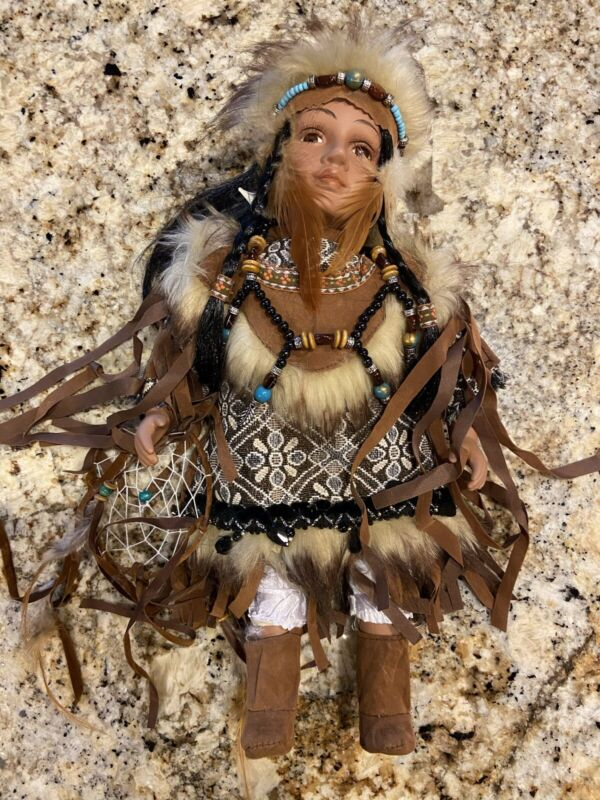 Native American Indian porcelain doll  Cathay Collection