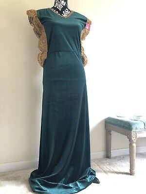 Arabian Party Dress (Formal Arab Party Dress Velvet Green Muslim Beautiful Boho Chic Gown)