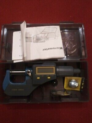 Electronic Digital Micrometer 0-1 0-25 Mm Sae Metric .00005 Resolution Taytoo