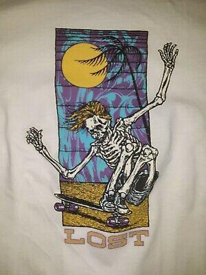 Vintage LOST Skateboarding Hookups Style Skate T Shirt 2XL RARE