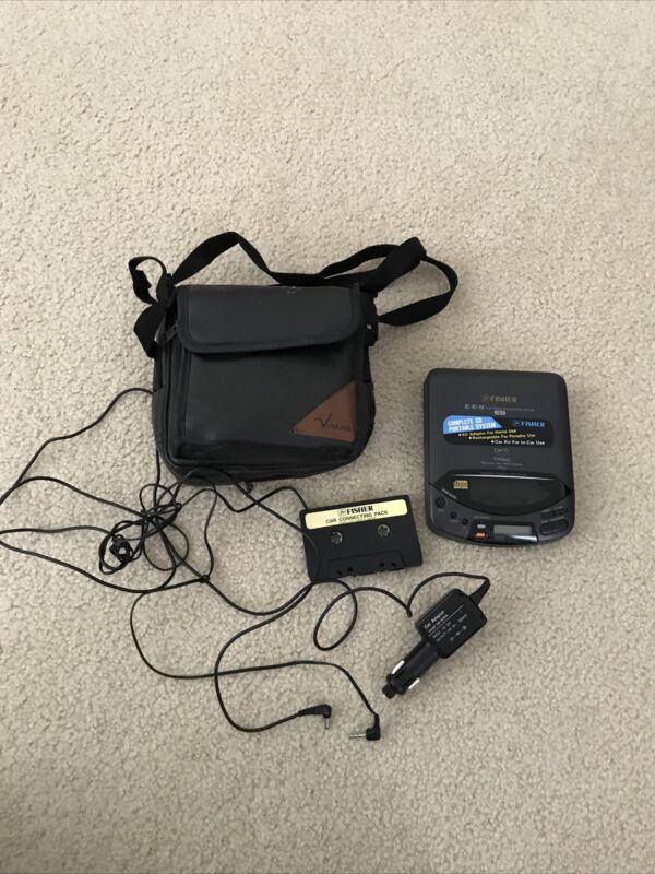 Fisher Portable CD Player PCD-5 with carry case & accessories