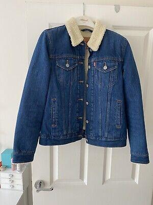 Levis Denim Jacket Size Small Fur Lined