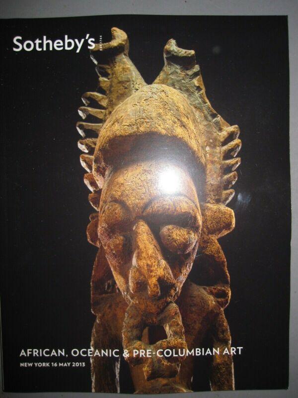 Sotheby 5/16/13 antiqye African Tribal Oceanic Oceania & Pre-Columbian