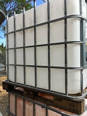 IBC CRATE with 1000 ltr water storage container and base lever valve.