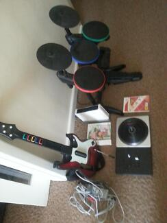 wii with drum kit and guitar and dj set 1 Murray Bridge Murray Bridge Area Preview