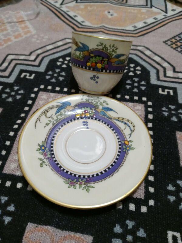 6 LENOX CHINA FLORIDA PATTERN demitasse cups saucers un used