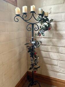 wrought iron candelabra floor standing