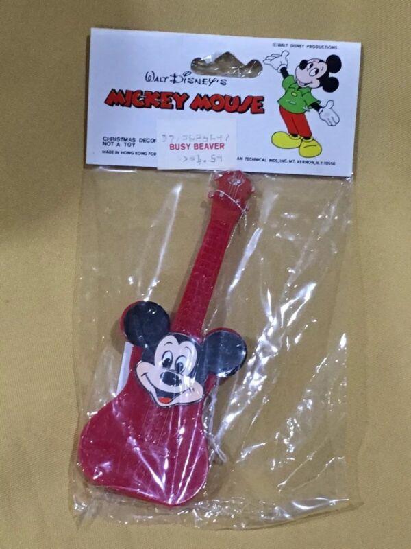VTG NIP American Themes Walt Disney Productions Mickey Mouse Guitar Ornament