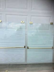 Shower doors and bath fixtures. $30 for everything