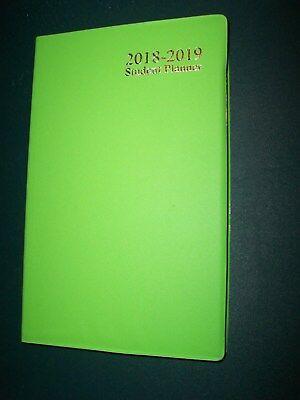 2019 Weekly Agenda Jul-dec18 4x7 Lime Green Planner Student Calendar Last1