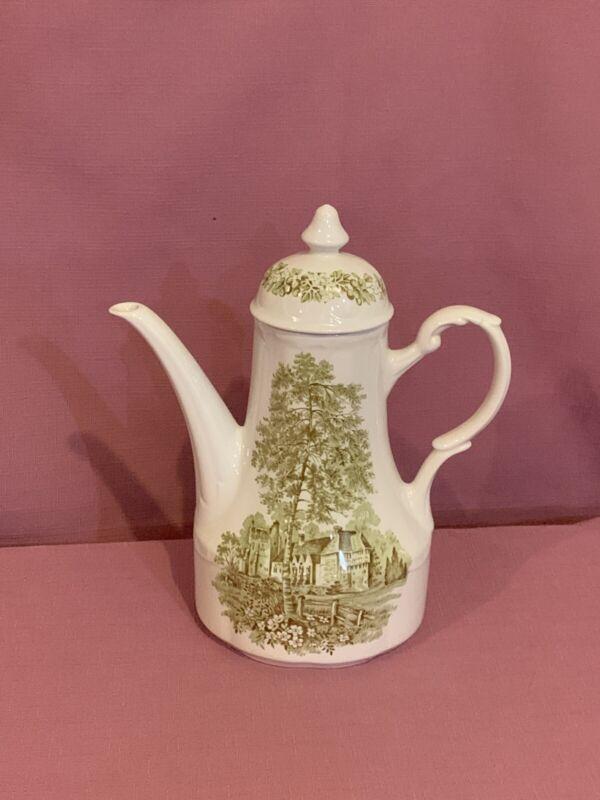 "Romantic England STOKESAY CASTLE 10"" COFFEE POT Teapot by J & G MEAKIN 5"
