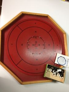 Crokinole Board and Game Pieces