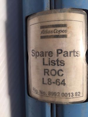 Atlas Copco Roc L8-64 Hydraulic Track Drill - Parts Manual Spare Parts List
