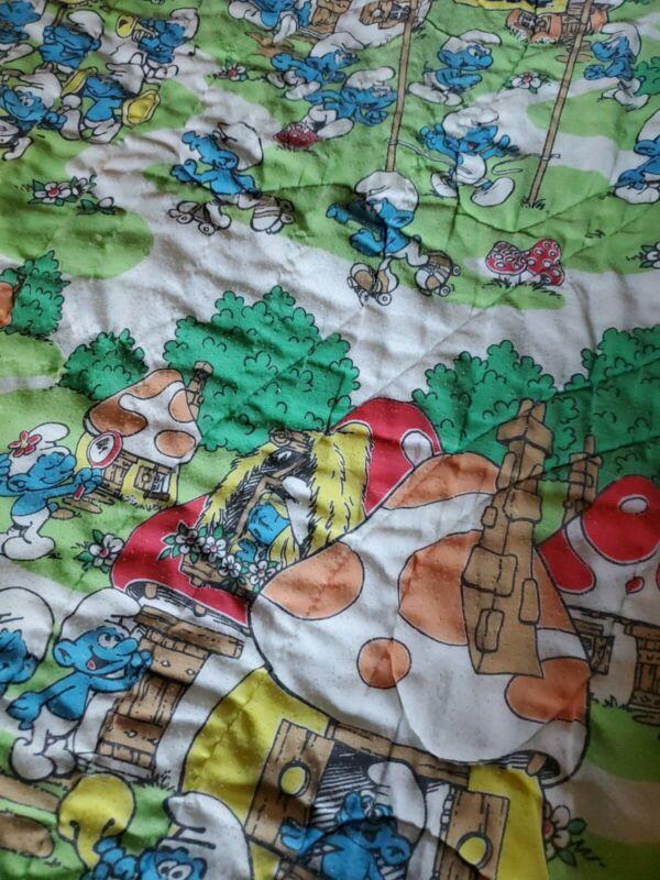 Vintage Smurfs twin Comforter