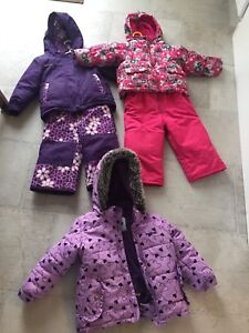 Size 2 toddler snow suits and one coat
