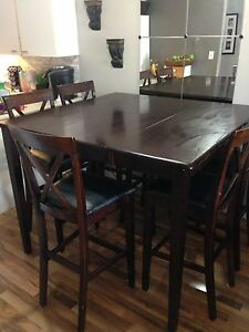Large Pub Style dining table and chairs.