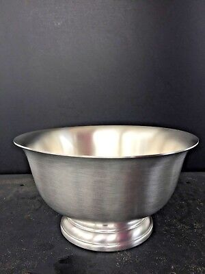 Pewter Paul Revere Bowl Reproduction by Web, 8 inch, Brand New,  Pewter Revere Bowl