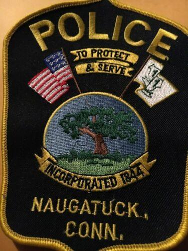 NAUGATUCK CONNECTICUT Police patch CC