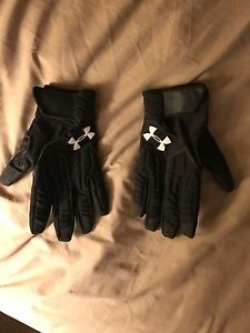 Large Underarmour Football Lineman Gloves
