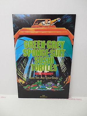 Green-Grey Sponge-Suit Sushi Turtles Parody Comic Book TMNT Teenage Mutant Ninja - Green Ninja Suit